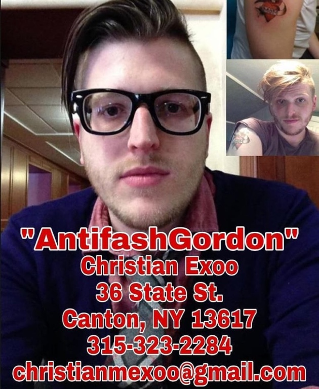 Christian Exoo, aka Antifash Gordon, aka Dox Savage, serial doxer and Marxist.